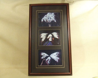 Framed prints - Warriors by Robin Ingles - matted and framed - ready to hang