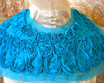 Pretty Turquoise Bodices with Chiffon Rosettes