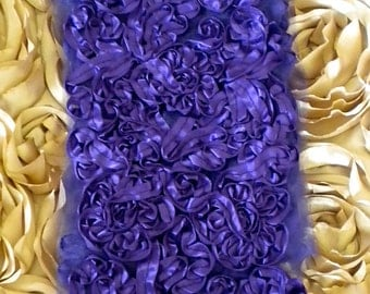 Purple Rosette Trim