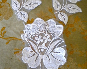 Cream Colored Floral Appliques