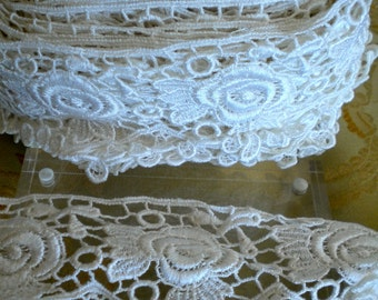 White Lace Floral Trim