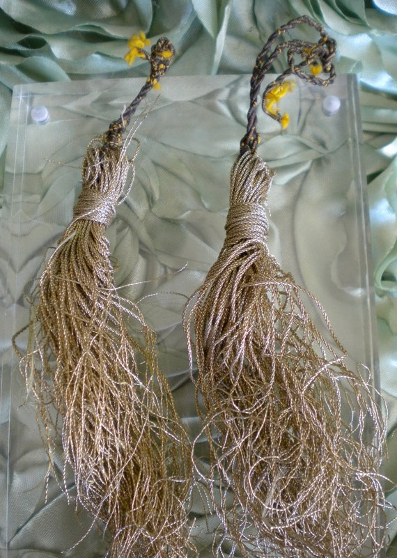 RESERVED for BEVERLEY Victorian Gold Metallic Tassels