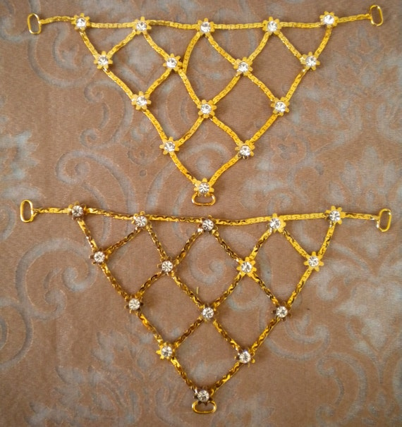 Gold and Silver Metal Rhinestone Appliques