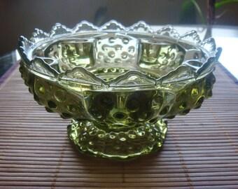 Vintage Fenton Hobnail Glass Candlestick Candle Holder