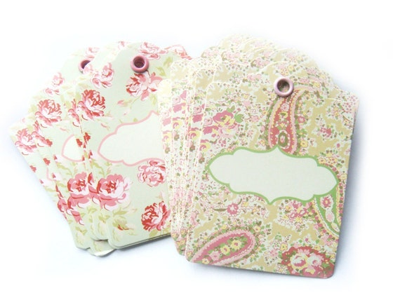 Hanging Wedding Gift Tags : Floral Gift Tags Hang Tags Price Tags Wedding Tags 50