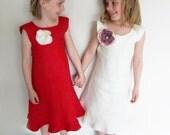 Custom Flower Girl Dress set of 2 choose your colour Size T1 - 5 Toddler Girls Dresses