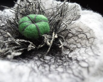 Felted Flower Brooch White Poppy Pin Brooch Poppies or Hair Flower Hair Clip