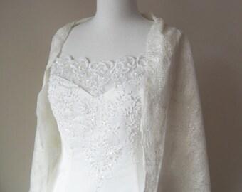 Bridal Shawl Wrap Wedding Scarf Bridal Stole White Ivory Wedding Bridesmaid