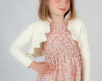 Girls bolero jacket for flower girl or special occasions