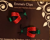 Pair of Ladybug Hairclips for Girls