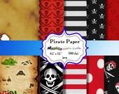 Digital  Paper: Pirate  8.5 x 11  JPEG sheets    no 009