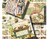 Collage Sheet: Old World Maps 1 x 1 Tile   Jpeg Digital File    no. 030
