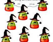 Clip Art: Halloween Candy Corn Characters   Png Digital Images no 072
