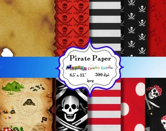Digital  Paper: Pirate  8.5 x 11  JPEG sheets    no 009