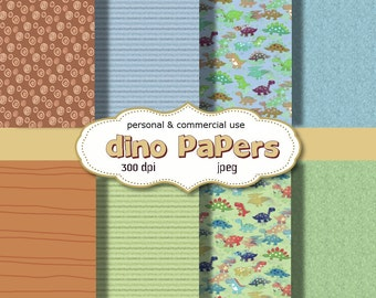 Digital Papers:Dino Papers 8.5 x 11 digital JPEG sheets   no 130