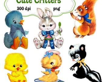 Clip Art:  Cute Critters Animals Png Digital Images no 123