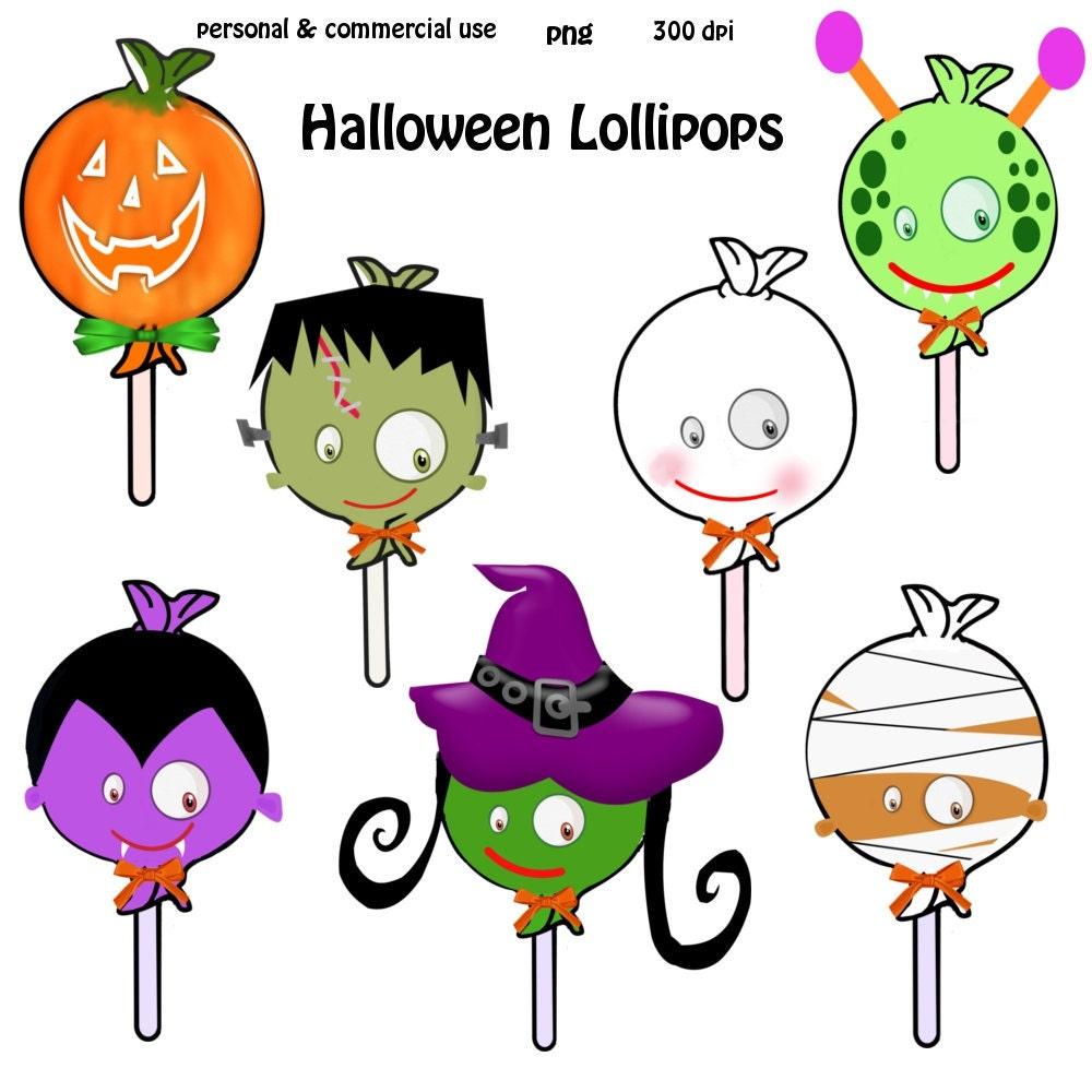 Clip Art: Halloween Lollipops Png Digital Images no 065