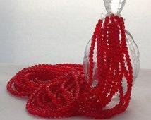 3mm Round Glass Beads, Light Siam Ruby Czech Glass Beads, Czech Glass Druks, Red Glass Beads CZ-024