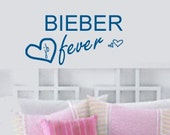 JUSTIN BIEBER Fever Teen Girl's Wall lettering sayings Room sticker Wall Decal