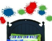 BOYS Paint Splats Splatter Vinyl Wall Art Sticker Decals Teen Bedroom Kids fun colors