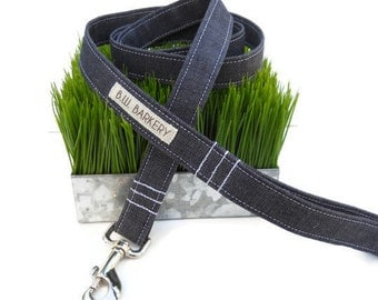 Hipster denim dog leash...