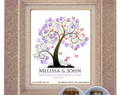 GUEST BOOK WEDDING tree, wedding tree guestbooks, fingerprint tree, Thumbprint guest book tree, Stamp Tree guest book 20x24 num. 106