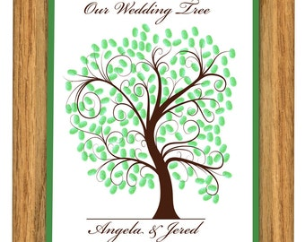 GUEST BOOK WEDDING tree, wedding tree guestbooks, fingerprint tree, Thumbprint guest book tree, Stamp Tree guest book 20x24 num. 102
