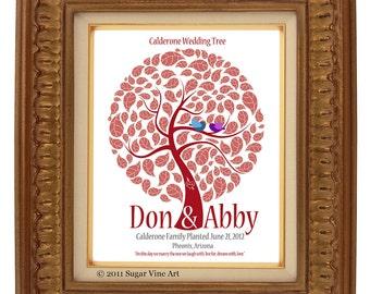 WEDDING SIGNATURE TREE guest book, fingerprint tree guest book, fingerprint guest tree, Thumbprint guestbook, Wedding Tree, 16x20 num.109