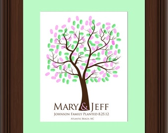 WEDDING FINGERPRINT GIFT Tree, Thumbprint Tree, Love Birds, wedding tree guest book, Stamp Tree guest book, 20x30 num.112