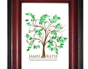 THUMBPRINT TREE, wedding tree guest book, fingerprint guest tree, Thumbprint Tree guest book, Love Birds, Wedding Poster 13x19 num.100 2