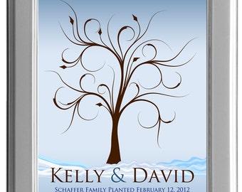 THUMBPRINT TREE, Winter wedding tree guest book, Winter fingerprint guest tree, Thumbprint Tree guest book, Wedding Poster 13x19 num.119
