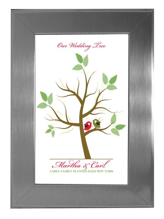 tree guest book wedding tree fingerprint guest tree love
