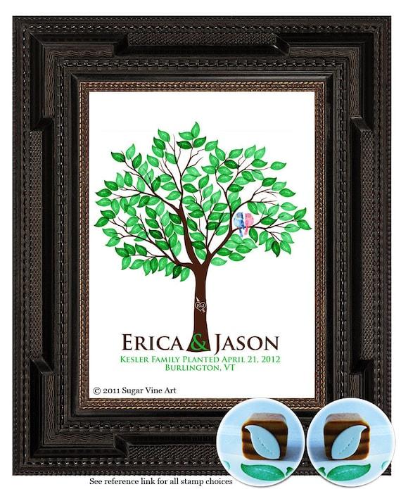WEDDING TREE guest book fingerprint tree guest book