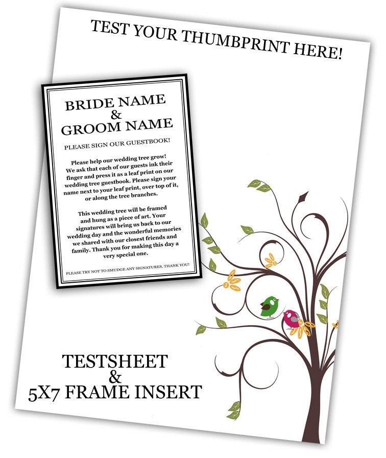 Thumbprint Tree Guest Sign: WEDDING TREE GUEST Book Thumbprint Tree By SugarVineArt On