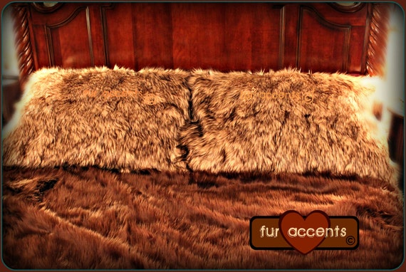 Faux Fur Pillow Shams One Pair King Or Queen Size Ask