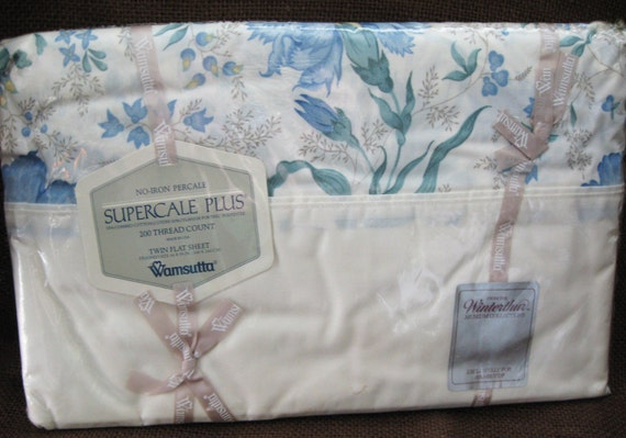 Vintage Wamsutta Twin Flat Sheet From the Winterthur Museum Collections - In Original Package