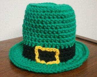 LEPRECHAUN HAT Pattern / St. Patricks Day Hat / Baby Crochet Hat Pattern