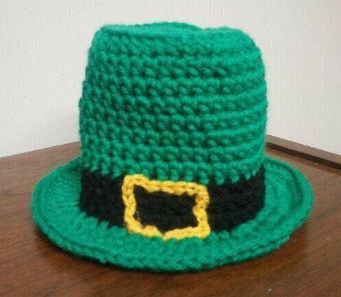 Crochet Baby Leprechaun Hat Pattern : LEPRECHAUN HAT Pattern / St. Patricks Day Hat / Baby Crochet