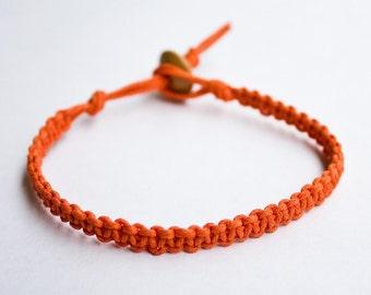 Hemp Bracelet Orange Hemp Friendship