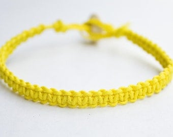Hemp Bracelet Yellow Hemp Bracelet
