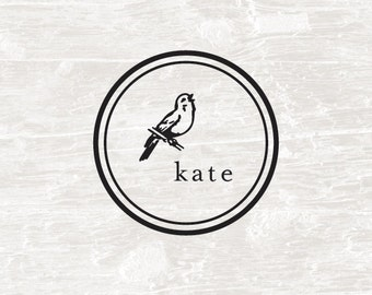 Custom Stamp, Custom Name, Self Inking Stamp, Birthday Gift, Bird, Personalized Gift, Children's Gift, Bird