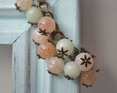 Clearance: Vintage Light Pink & Mint Green Beaded Bracelet