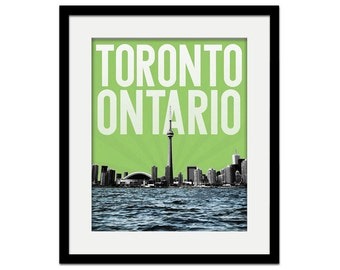 Toronto Ontario Canada City Skyline - choose your color - Wall Art Souvenir - Wedding Gift Print