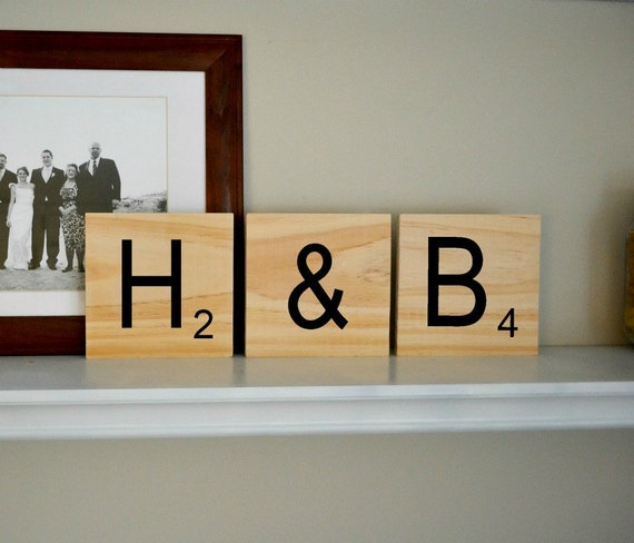 GIANT- Scrabble style wood wall art - choose your own letters