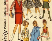 1964 Doll Cothing Pattern Simplicity 5861 Skipper & Lil Sister COMPLETE