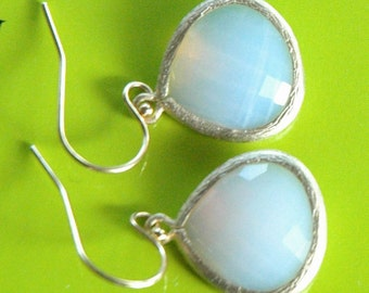 Gold Filled Violet Opal  Dangle Earrings