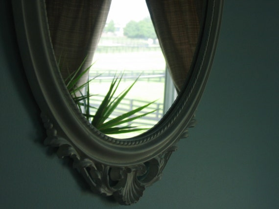 Clara --- Famous Mirror Framed - White Rococo Hollywood Chic