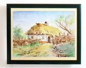Traditional ukrainian rural house - 5 x 7 print      with free shipping