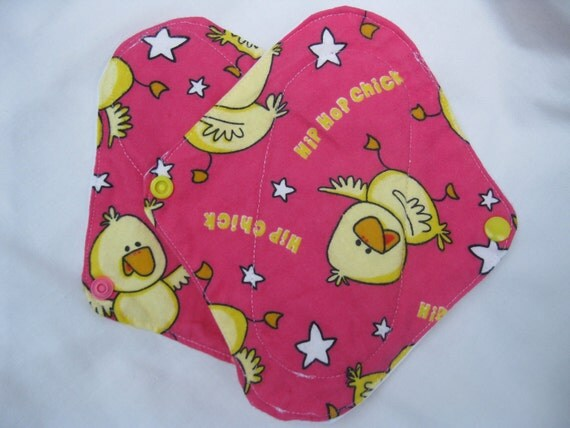 Hip Chick Mama Cloth/Pantyliners: Set of TWO (Reusable Cloth Menstrual Pad)