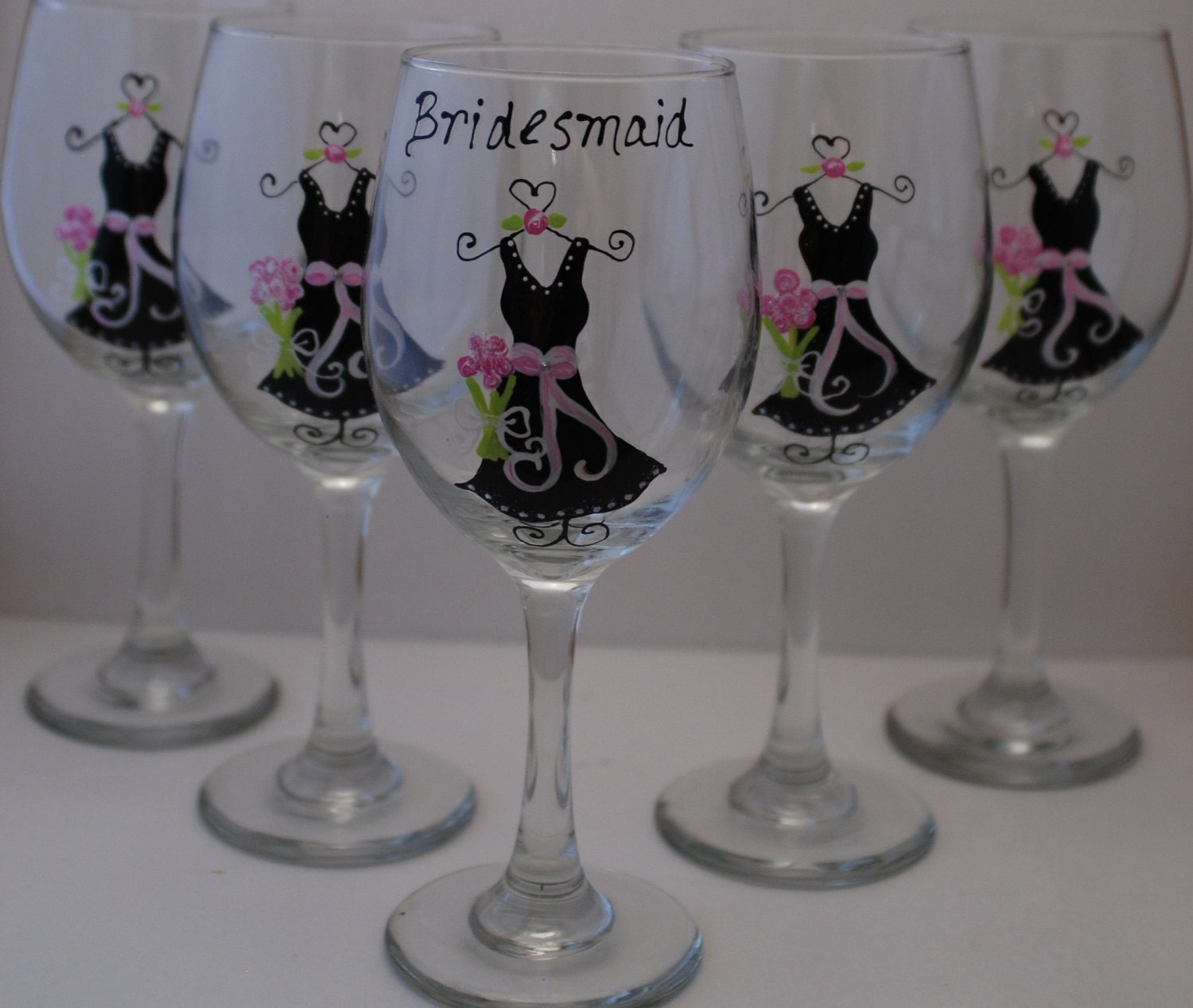 Unique Wedding Wine Glasses 5 Wine Glass Black By